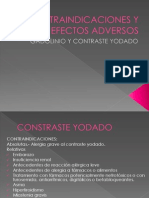 Contraindicaciones y Efectos Adversos del gd