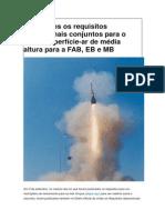 Publicados os requisitos operacionais conjuntos para o míssil superfície
