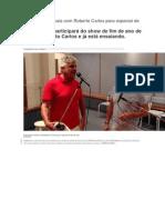 Lulu Santos Ensaia Com Roberto Carlos Para Especial de Fim de Ano