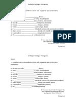 Avaliação de Língua Portugues1