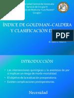 Escala de Goldman-caldera y Asa