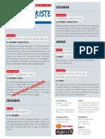 Veranstaltungsprogramm November 2013 - Januar 2014