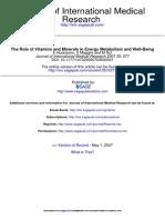 Journal of International Medical Research 2007 Huskisson 277 89