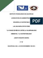 México entre la vulnerabilidad ambiental y la sustentabilidad