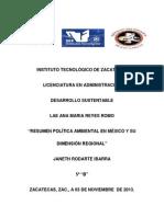 Resumen Politica Ambiental en México