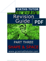 Free E-Book 'Revision Guide Part Three - Shape & Space' from GCSE Maths Tutor