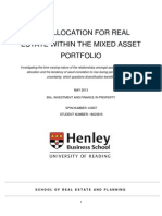 The Allocation For Real Estate within the Mixed-Asset Portfolio
