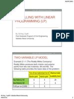 Modelling in Liniear Programming
