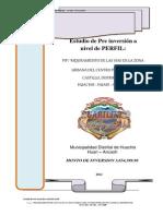 Modelo Perfil Mejoramiento Vias - Castillo - Huachis
