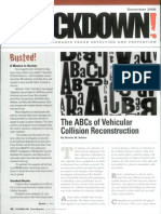 The ABCs of Vehicular Collision Reconstruction