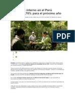 El turismo interno en el Perú crecería 3
