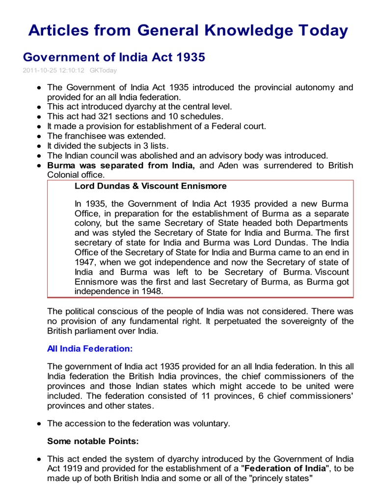 govt of india act 1919