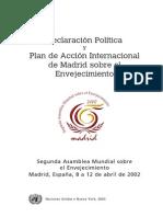 Plan de Acción Internacional de Madrid sobre el Envejecimiento 2002