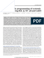 Hypothalamic programming of systemic ageing involving IKK-b,NF-kBandGnRH