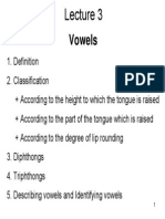 Lecture 3 - Vowels
