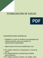 3.- ESTABILIZACIÓN DE SUELOS norma
