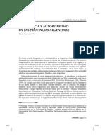 Carlos Gervasoni - Democracia y Autoritarismo en Las Provincias Argentinas