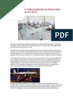 Primeiro drone militar produzido no Brasil deve começar a voar em 2014