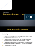Business Research - Methodology