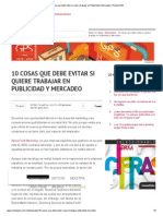 10 Cosas Que Debe Evitar Si Quiere Trabajar en Publicidad y Mercadeo _ Revista PyM