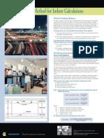 Zonal Cavity Method for Indoor Calculations