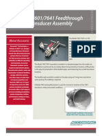 Model 7601 Transducer Data Sheet-Flowmeter