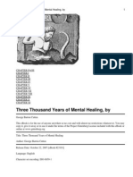 Three Thousand Years of Mental Healing,