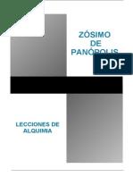 Zosimo de Panopolis,Lecciones