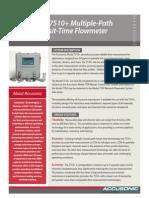 Accusonic Model 7510+ Flowmeter