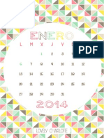 Lovely Calendario 2014 (Pastel)