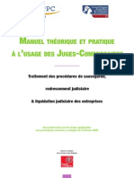 Manuel théorique et pratique à l'usage des juges-commissaires