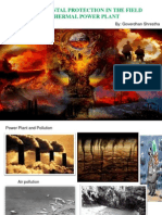ENVIRONMENTAL PROTECTION IN THE FIELD OF THERMAL POWER PLANT