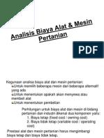 Analisis Biaya Alat & Mesin Pertanian (III)