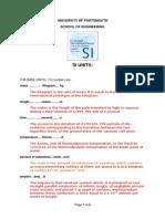 si unit conversion and calculation