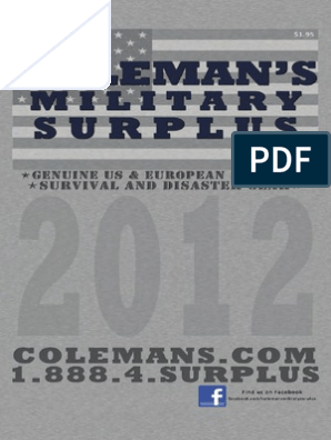 Colemans Military Surplus Catalog From 2012 | Backpack | Stove