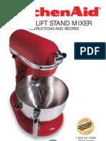 KitchenAid Mixer manual & recipe
