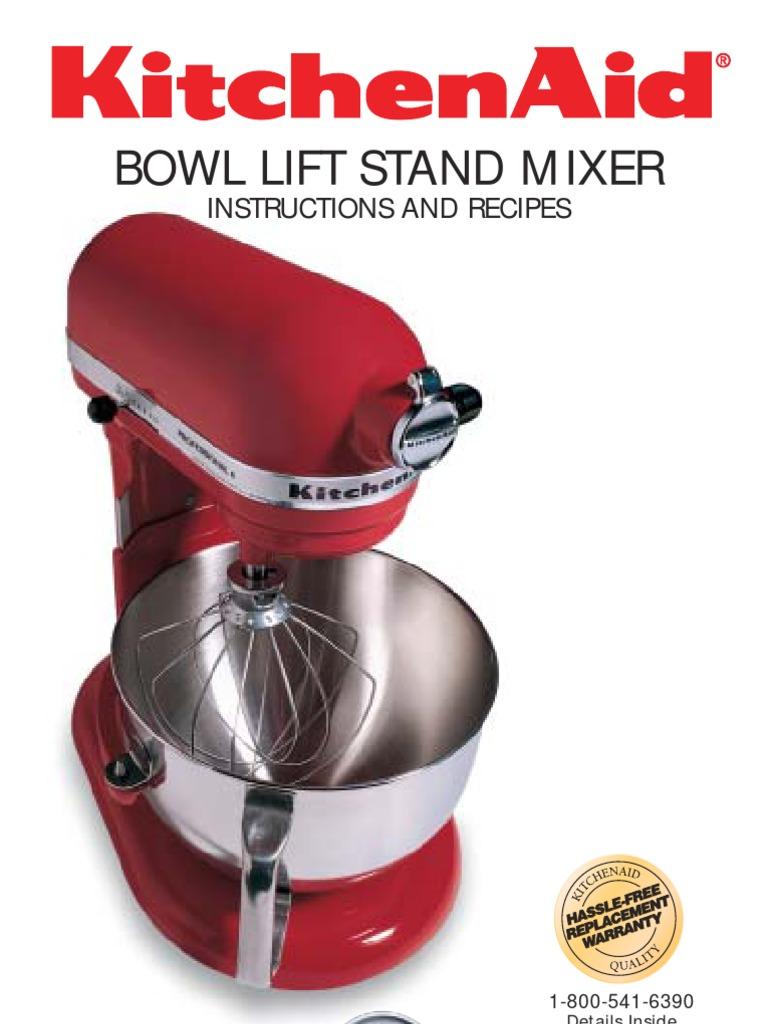 kitchenaid mixer manual recipe mixer cooking cakes