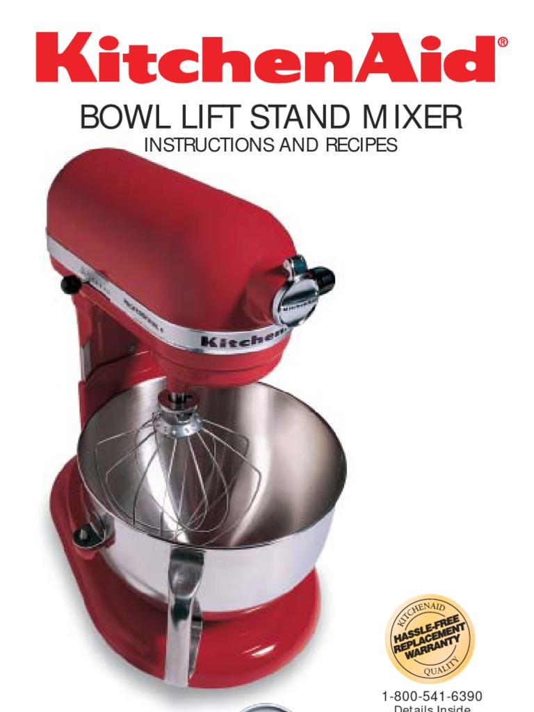 KitchenAid Mixer Manual U0026 Recipe | Mixer (Cooking) | Cakes