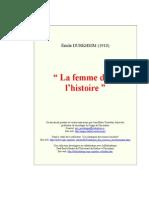 Durjhim La Femme Dans Histoire