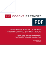 Cogent Partners Secondary Pricing Analysis, Interim Update, Summer 2009