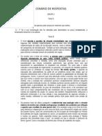 CENÁRIO DE RESPOSTAS - comunicado