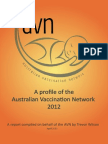 A profile of the Australian Vaccination Network, 2012