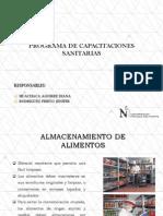 Programa de Capacitaciones Sanitarias - Almacenamiento de Alimentos