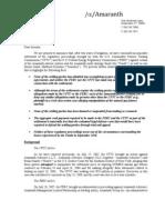 Amaranth Letter to Investors
