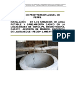 Perfil Agua y Saneamiento Motupe Lambayeque