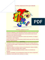 Projeto Pedagogico Para Adaptação Educação Infantil