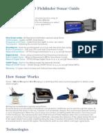 Raymarine MFD Fishfinder Sonar Guide