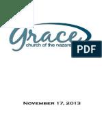 Worship Folder for November 17, 2013