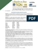 Reglamento Carrera Sin-son 10k 2013