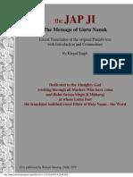 The Jap Ji - The Message of Guru Nanak by Kirpal Singh